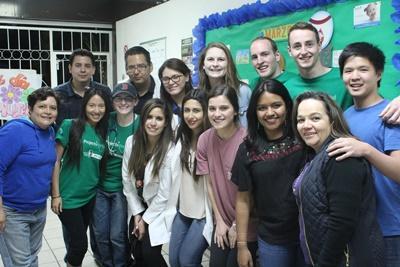 En gruppe Projects Abroad-frivillige på Hiv/Aids-prosjekt i Mexico