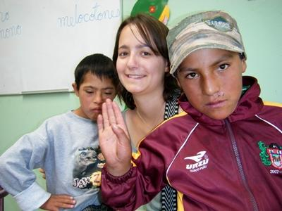 Frivillig med Projects Abroad på et senter for barn med spesielle behov i Peru