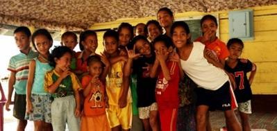 Barn på et omsorgsenter på Samoa hvor Projects Abroad har barn- og ungdomprosjekter