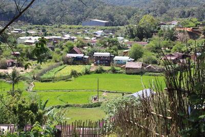 Arbeid i naturskjønne omgivelser, på landsbygda på Madagaskar