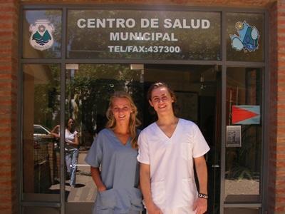 Frivillige på fysioterapiprosjektet i Mexico på sin plassering i Guadalajara