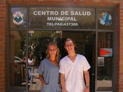 Studenter på plasseringen sin på Medisinprosjekt i Argentina