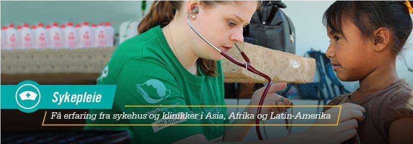 Sykepleie - Få erfaring fra sykehus og klinikker i Asia, Afrika og Latin-Amerika