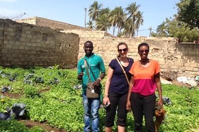 Frivillig på mikrofinansprosjektet i Senegal jobber med lokale landsbyboere