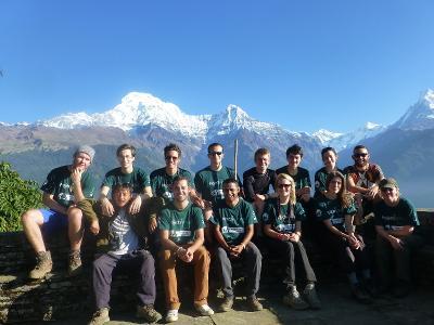 Frivillige som jobber med natur- og miljøbevaring i Nepal med Projects Abroad