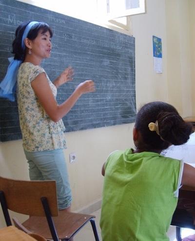 Frivillig underviser i engelsk på en skole i Marokko med Projects Abroad