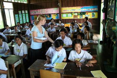 Frivillig arbeid med undervisning i Thailand