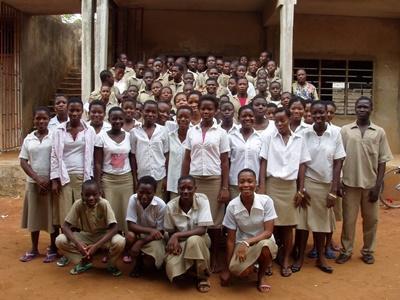 Skoleklasse på Undervisningsprosjekt i Togo