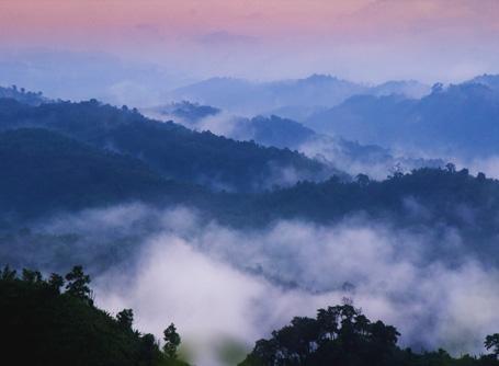 Fantastisk fjellutsikt over Sajek Valley i Bangladesh