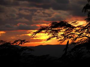 Solnedgang over byen hvor frivillige bor og jobber med Projects Abroad i Costa Rica