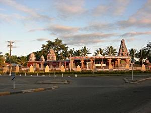Midt i sentrum av Nadi på Fiji, hvor frivillige bor og arbeider