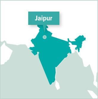 Kart over destinasjon for frivillige prosjekter med Projects Abroad i Jaipur, Nord-India