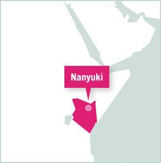 Kart over Nakuru, Kenya, hvor frivillige bor og jobber