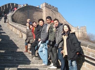 Frivillige med Projects Abroad i Kina som besøker den kinesiske mur i fritiden sin