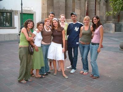 En gruppe med frivillige som har blitt venner i Mexico med Projects Abroad