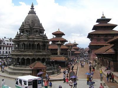 Tradisjonelle bygninger i Nepal