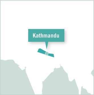 Kart over frivillige prosjektplasseringer i Katmandu, Nepal