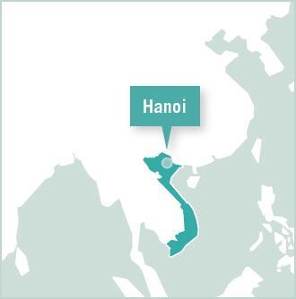 Kart over frivillige prosjekter i Hanoi, Vietnam